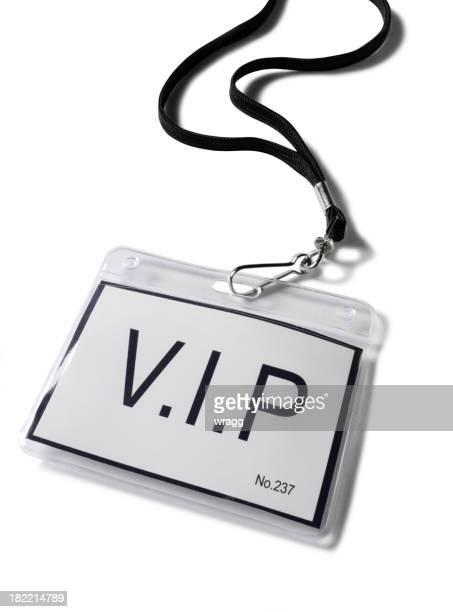 Plastic V.I.P. Badge