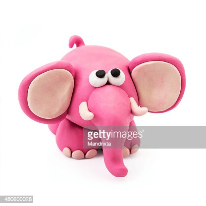 Plasticine elephant : Stock Photo