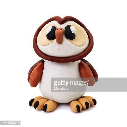 Plasticine owl : Stock Photo