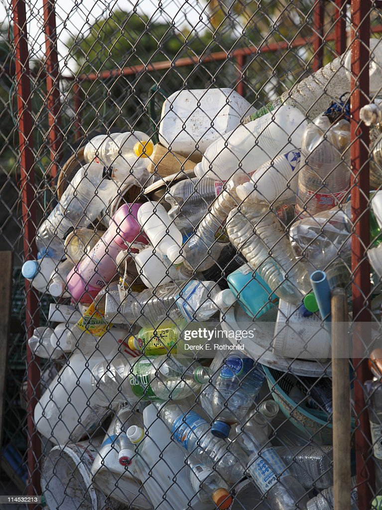 Plastics for recycling : Stock Photo