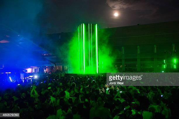 Plastikman performs his show Objeckt at Sonar 2014 at Sonar Village on June 12 2014 in Barcelona Spain