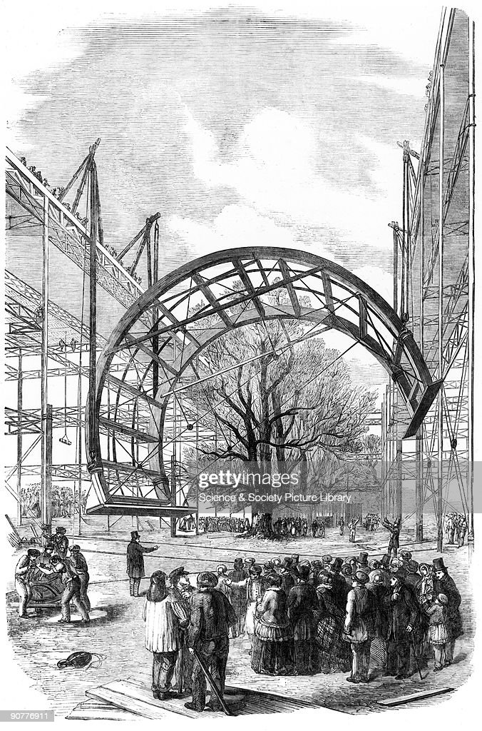Plate from the Illustrated London News As part of the preparations for the Great Exhibition of 1851 the semicircular ribs of the transept of Crystal...