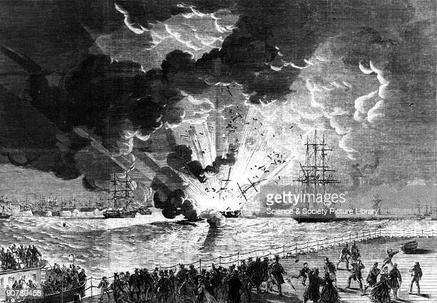 Plate from the Illustrated London News The explosion on board the Lottie Sleigh took place on the 15 Jan 1864 The ship was a barque an African trader...