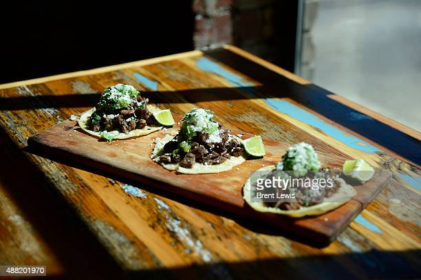 A plate of Arrachera steak tacos on September 10 2015 at Dos Santos in the Uptown neighborhood The taqueria that open about two months ago...