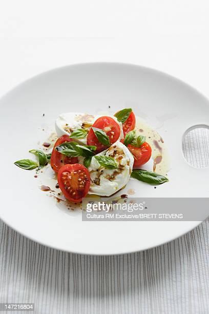 Plate of Caprese salad