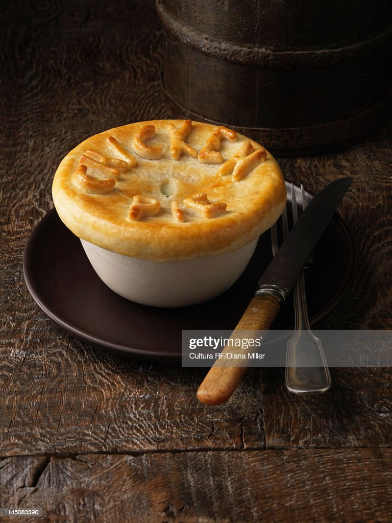 Plate of chicken pies : Stock Photo