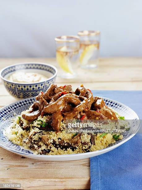 Plate of chicken with couscous