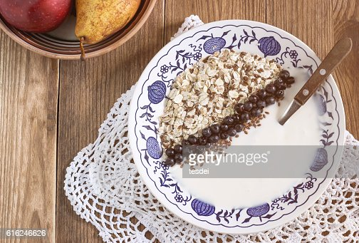 Plate of healthy breakfast : Stock Photo