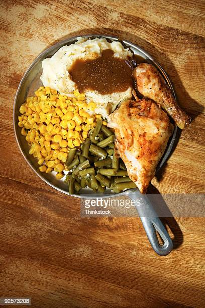 Plate of hearty food