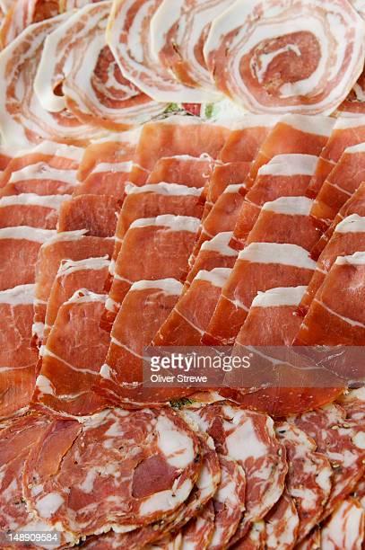 Plate of Italian meats.
