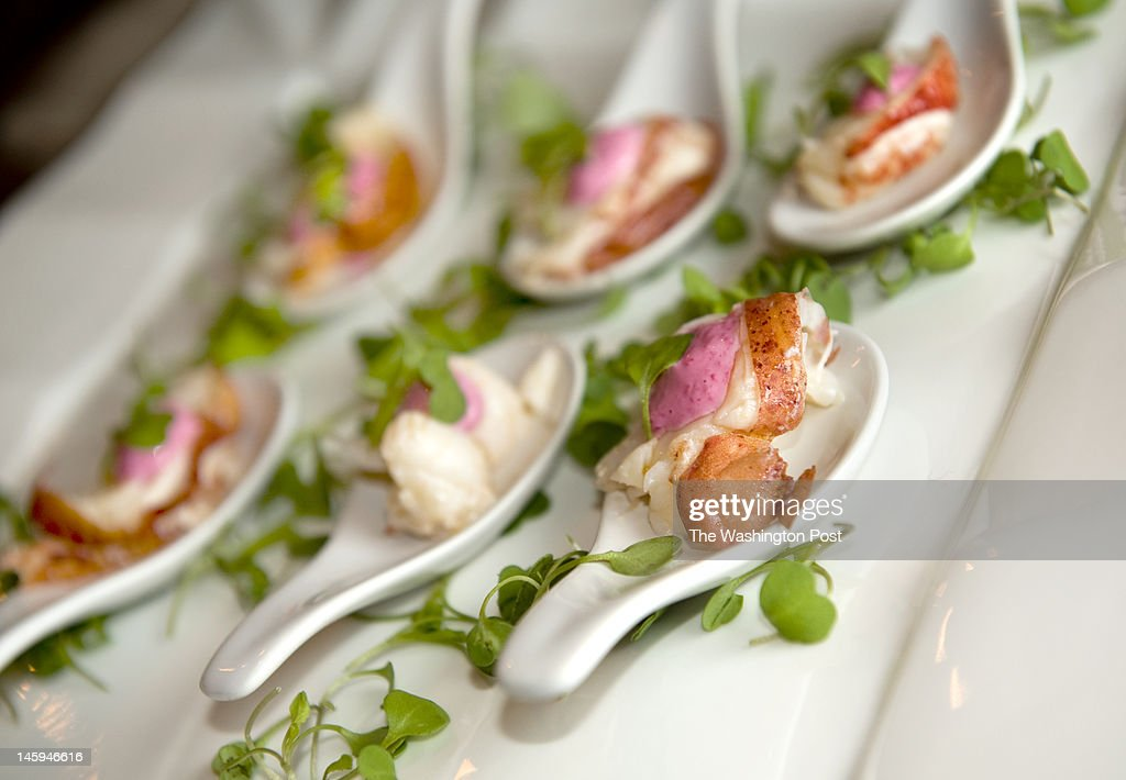A plate of Maine lobster hors d'oeuvres at a party hosted by rising party hostess Juleanna Glover at her home in Washington, DC on March 2, 2012. Glover co-founded the strategy firm the Ashcroft Group with former Attorney General John Ashcroft.