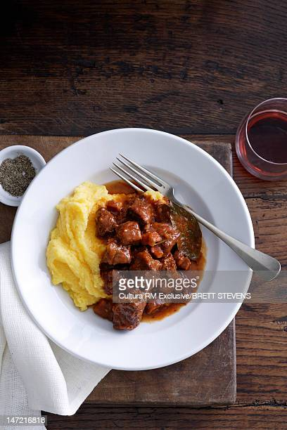 Plate of meat with potatoes