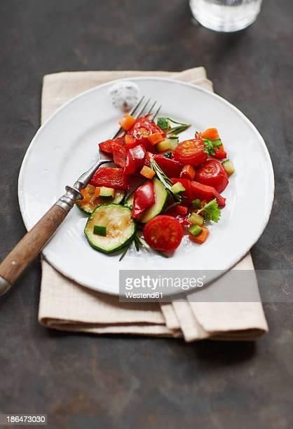 Plate of Mediterranean vegetables