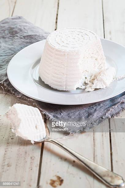 Plate of ricotta