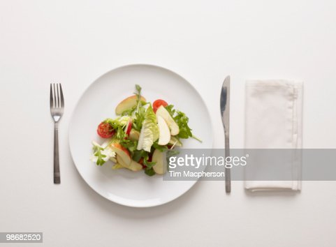 A plate of salad : Stock Photo