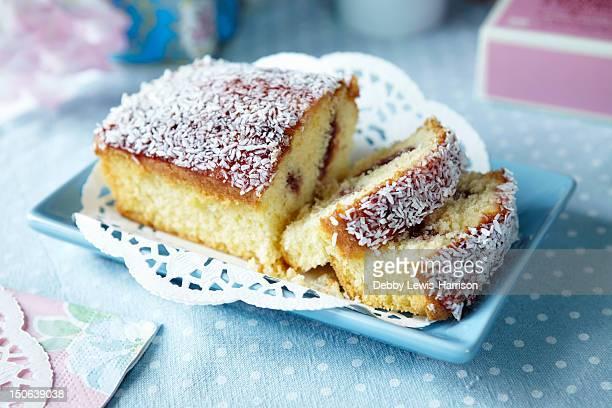 Plate of sliced fruit cake