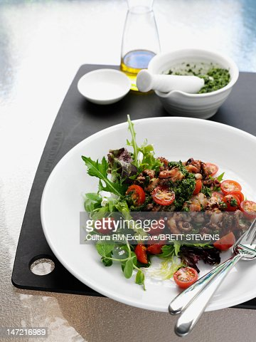 Plate of vegetable salad : Stock Photo