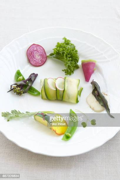 A plate of vegetables