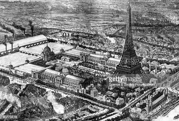 Plate taken from the �Illustrated London News� The Eiffel tower built by Gustave Alexandre Eiffel for the Exposition Universelle on the ChampsdeMars...