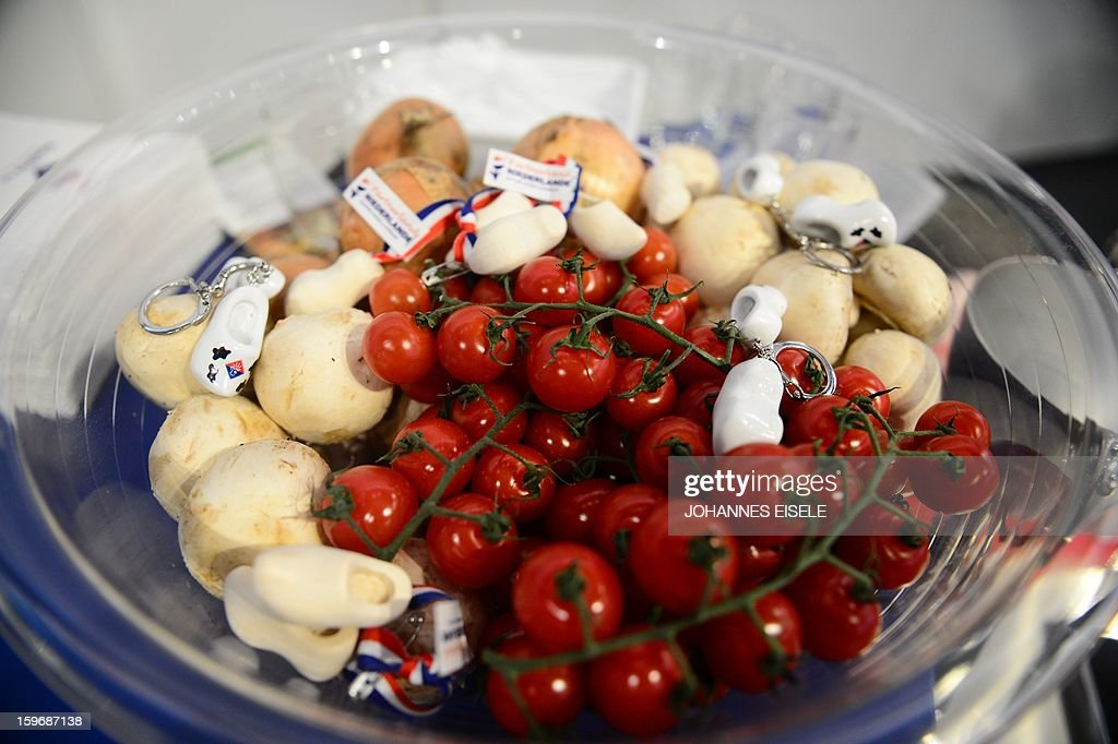 A plate vegetables is seen during the opening of the Gruene Woche Agricultural Fair in Berlin on January 18, 2013. This year the official partner country of the fair is The Netherlands. AFP PHOTO / JOHANNES EISELE