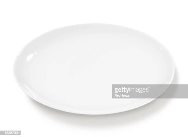 Assiette vide blanche et