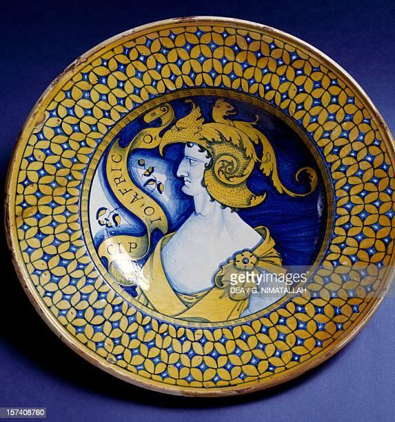 Plate with a portrait of Scipio Africanus maiolica Deruta manufacture Umbria Italy 16th century Florence Museo Nazionale Del Bargello