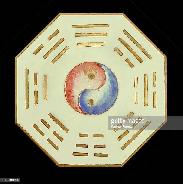 Plate with Yin Yang and trigram symbols From a Taoist temple China 19th c
