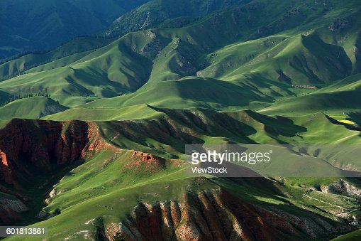 Plateau scenery of Qinghai Province, China