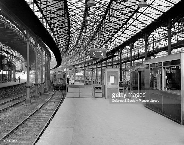 Platforms 4 and 5 Euston Station 16 February 1960 Shows the platform booking office and a train for Watford British Railways official photographer