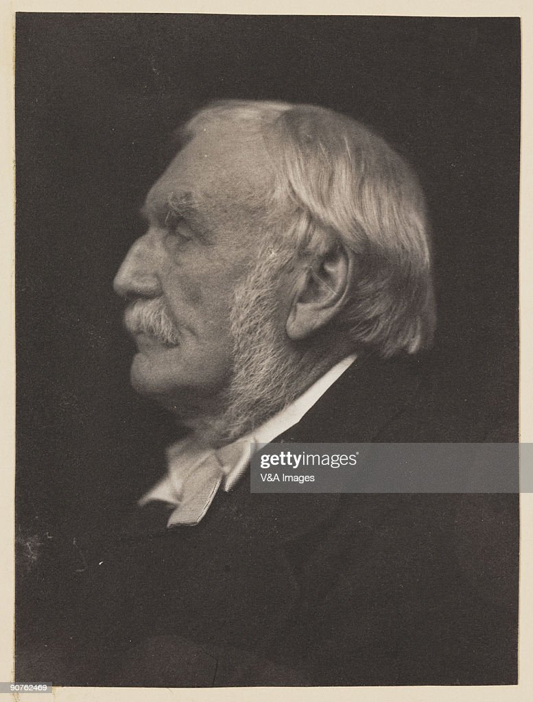 Platinum print photograph by Frederick Hollyer (1837-1933) of British soldier and Indian administrator Sir Richard Strachey (1817-1908). Strachey was a member of the council of the secretary of state for India from 1875 to 1889, when he resigned his seat in order to accept the post of chairman of the East Indian Railway Company. From 1888 to 1890 he was president of the Royal Geographical Society. He had thirteen children, including the writer Lytton Strachey (1880-1932).
