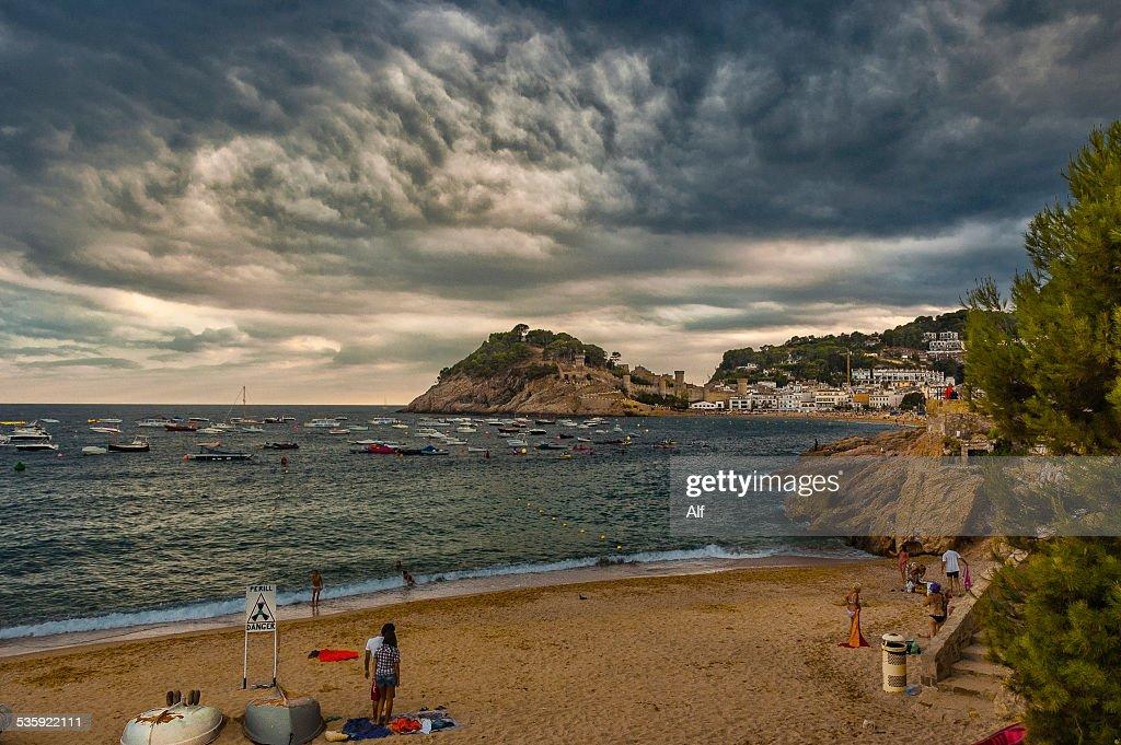 Platja de la Mar Menuda in Tossa del Mar : Stock Photo