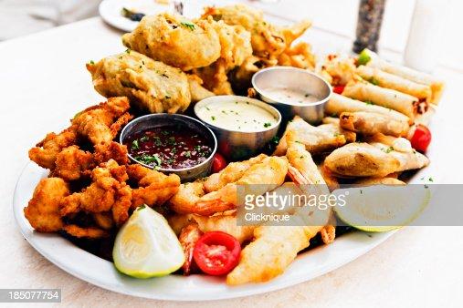 Platter of finger snacks