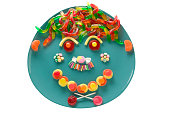 Platter with candy face