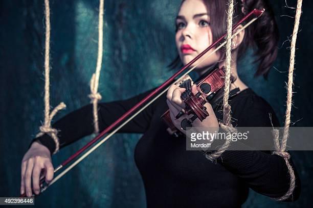 Jogar no seu violino