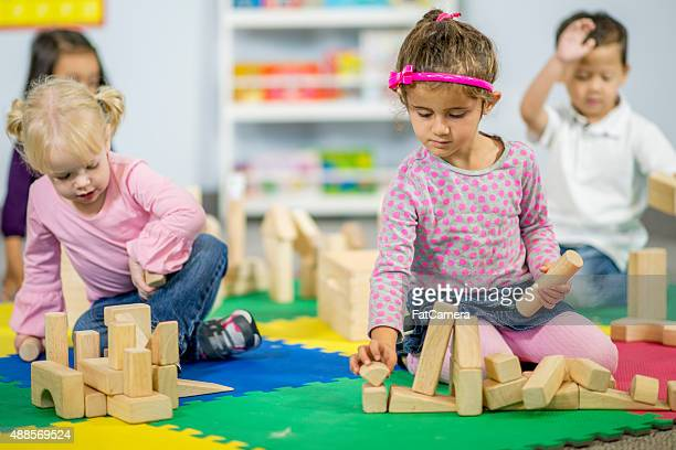 Play Time with Wooden Blocks