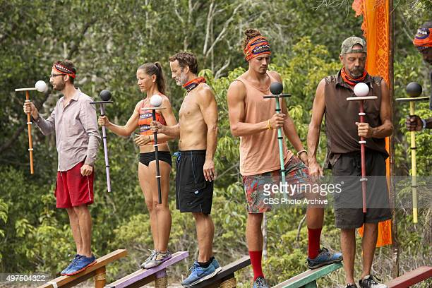 'Play to Win' Stephen Fishbach Kelly Wiglesworth Andrew Savage Joe Anglim and Keith Nale compete for Immunity during the seventh episode of SURVIVOR...