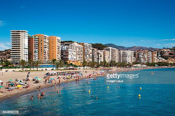Playa de la Malagueta beach with high-rises