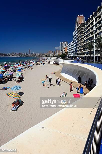 Playa De Poniente beach, Benidorm