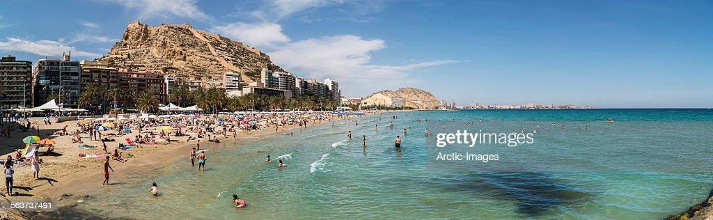 Playa del postiguet beach alicante spain stock photo getty images - Stock uno alicante ...