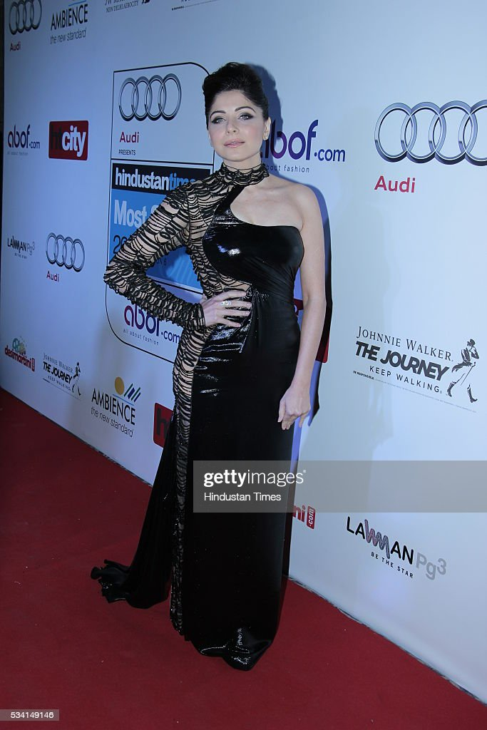Playback Singer Kanika Kapoor arriving at red carpet forHindustan Times Most Stylish Awards 2016 at hotel JW Marriot, Aerocity on May 24, 2016 in New Delhi, India.
