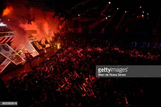 Playboi Carti and Lil Uzi Vert onstage at Spotify's RapCaviar Live in Toronto at Rebel Nightclub on September 28 2017 in Toronto Canada