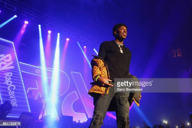 Playboi Carti performs at Spotify's RapCaviar Live in Chicago at Aragon Ballroom on October 20 2017 in Chicago Illinois
