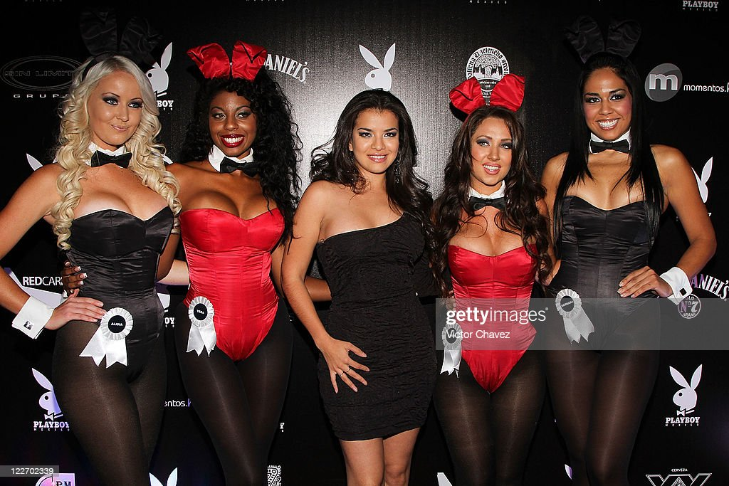 Playboy bunnies attend the Playboy Mexico magazine party at Lomas de Chapultepec on August 27, 2011 in Mexico City, Mexico.