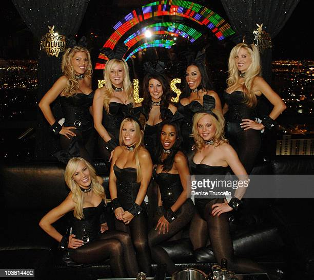Playboy Bunnies Cerra Wheeler Patty McNeil Kristy Newman Taina Brito Denise Pernula Lindsey Roeper Chandella Powell and Charity Mays pose for photos...