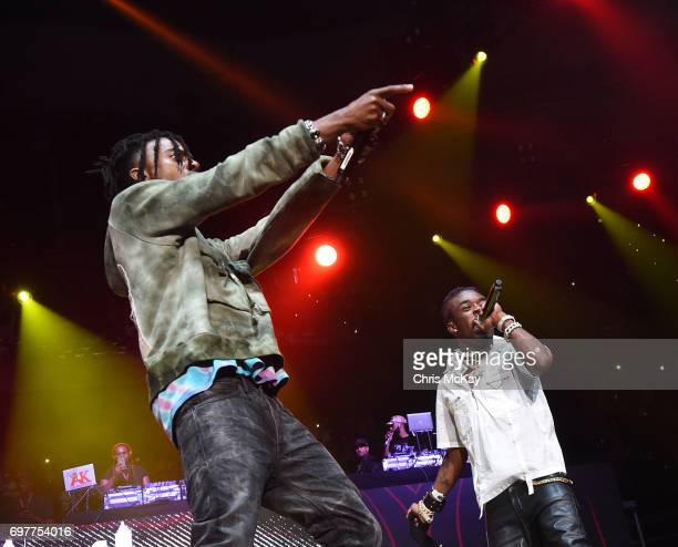 Playboy Carti and Lil Uzi Vert perform during the Hot 1079 Birthday Bash at Philips Arena on June 17 2017 in Atlanta Georgia