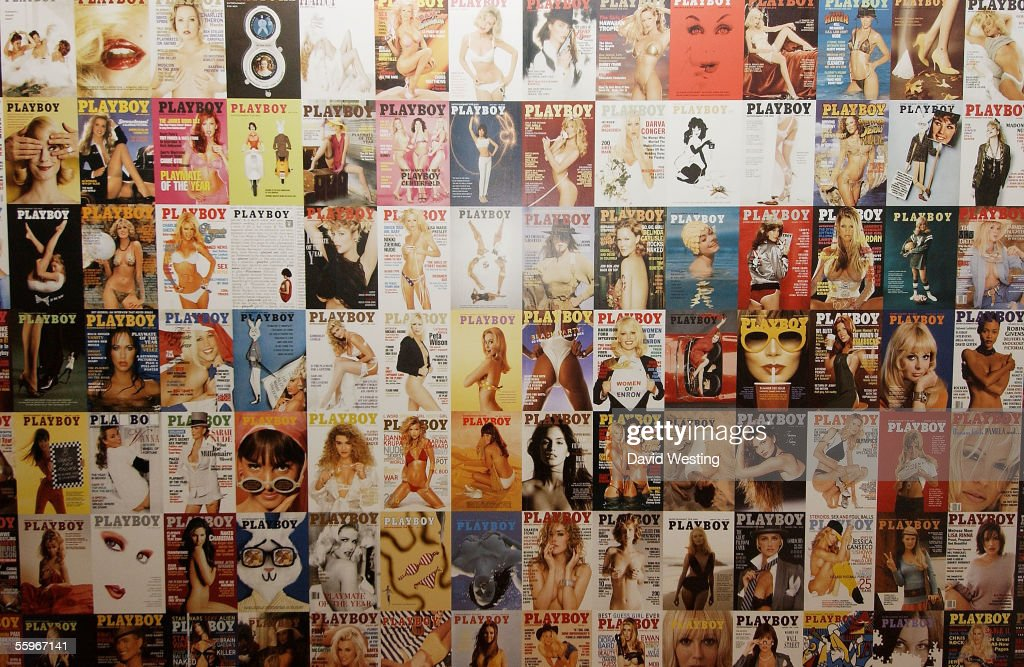 Playboy covers are seen on display at the 'Playboy Exposed' Private View at the Sony Ericsson Proud Camden on October 19, 2005 in London, England. The show features a selection of images charting the history of Hugh Hefner's men's magazine.
