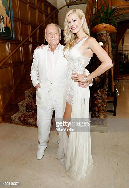 Playboy Founder and Editor in Chief Hugh M Hefner and 2014 Playmate Of The Year Kennedy Summers attend Playboy's 2014 Playmate Of The Year...