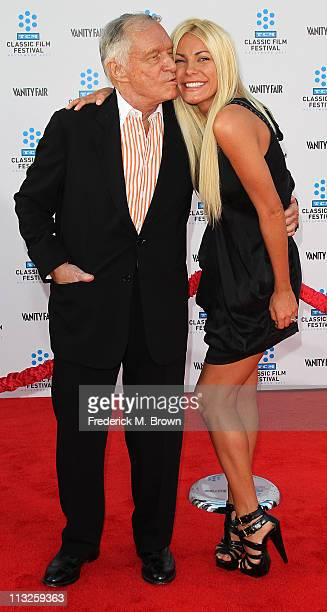 Playboy founder Hugh Hefner and his fiancee Crystal Harris attend the TCM Classic Film Festival Opening Night Gala and World Premiere of the film 'An...