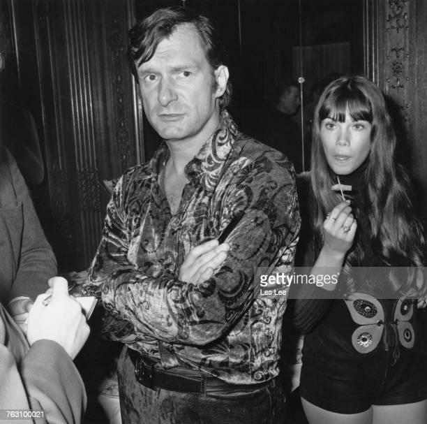 Playboy impresario Hugh Hefner with his girlfriend Barbi Benton 18th February 1972