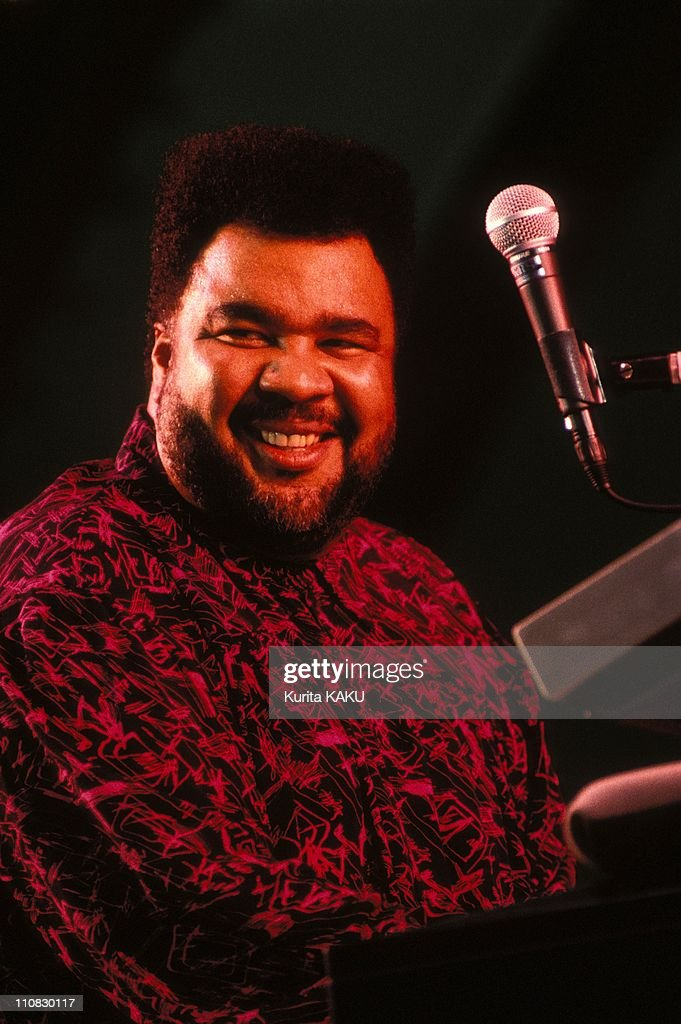 Playboy Jazz Festival In Tokyo, Japan On August 16, 1991 - <a gi-track='captionPersonalityLinkClicked' href=/galleries/search?phrase=George+Duke&family=editorial&specificpeople=846842 ng-click='$event.stopPropagation()'>George Duke</a>.